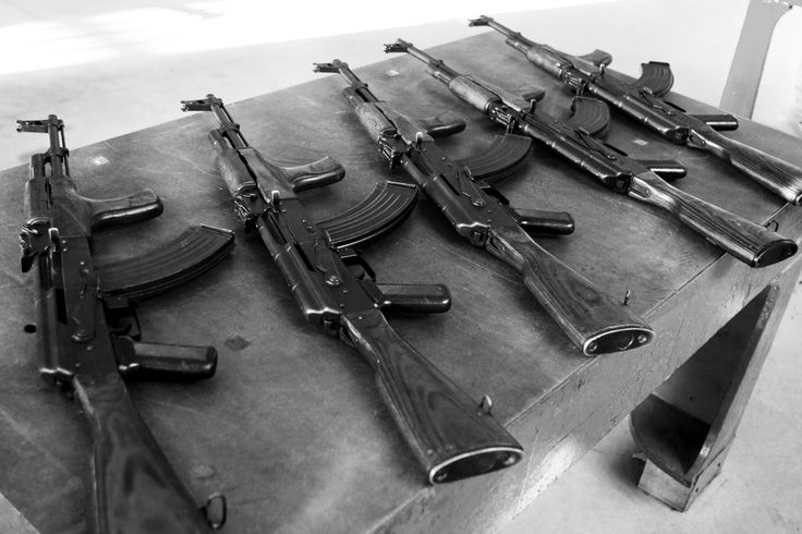 Weapons collected by the FSD, An NGO specialized in the humanitarian demilitarization: the Swiss Foundation for mine action ( FSD) based in Geneva.