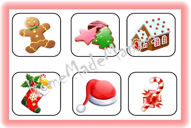 La tombola degli animali e quella di Pasqua sono molto piaciute a Piccolo Furfante, così ho deciso di crearne un'altra a tema natalizio da poter usare in queste vacanze. Essendo una tombola pensata...
