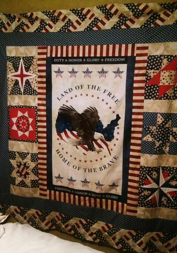 Quilt made for Quilts of Valor Stars