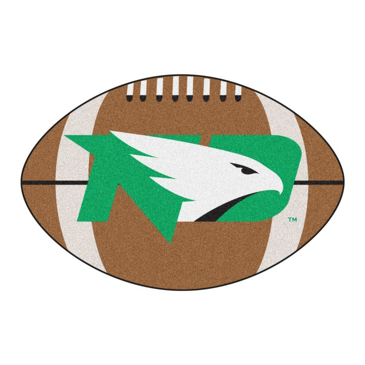 NCAA 20.5x32.5 Football Rug North Dakota Fighting Hawks