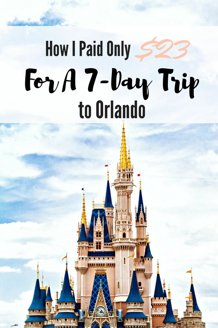 Traveling doesn't have to be expensive. Here's how I paid only $23 for a 7-Day Trip to Orlando, and tips to help you save on your next trip as well.