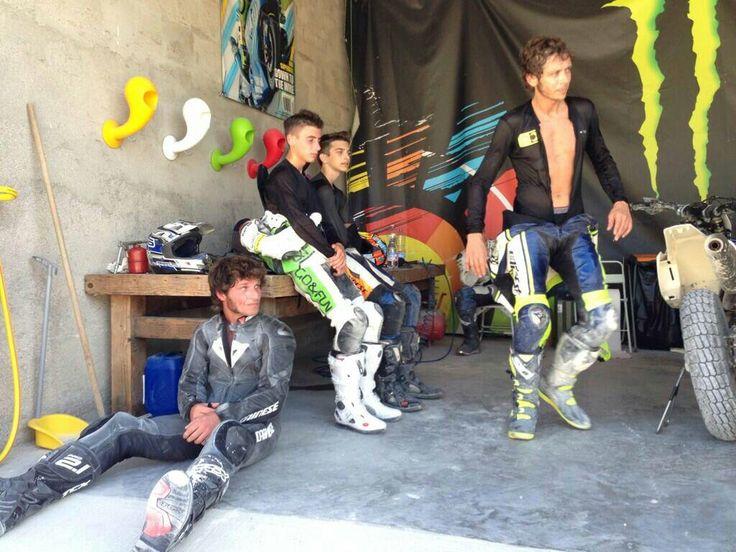 Vale, Luca Marini, Niccolo Antonelli & Guy Martin, Motoranch Tavullia