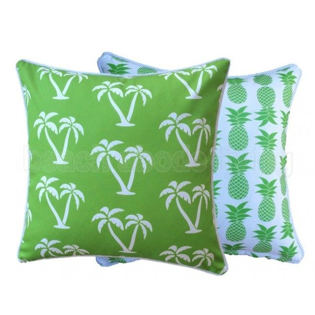Lime Green Palmapple Outdoor Cushion Cover 45 x 45cm or 60 x 60cm unique…