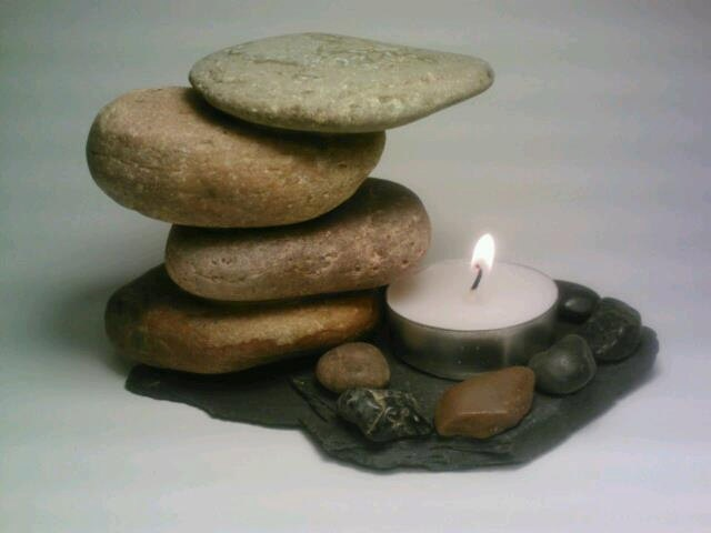 Rock Tealight Candle Holder. $25.00, via Etsy.