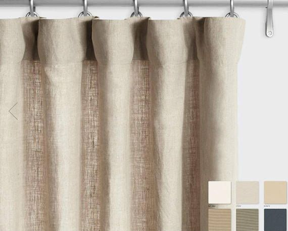 Pair Of Belgian Linen Curtains Canvas Weight Linen Custom