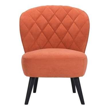Fauteuil Vita - stof - oranje