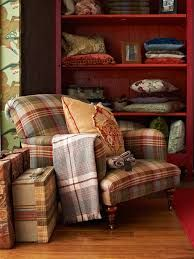 Armchair in Ancient Tartan - Mulberry #mulberryhome #gpjbaker