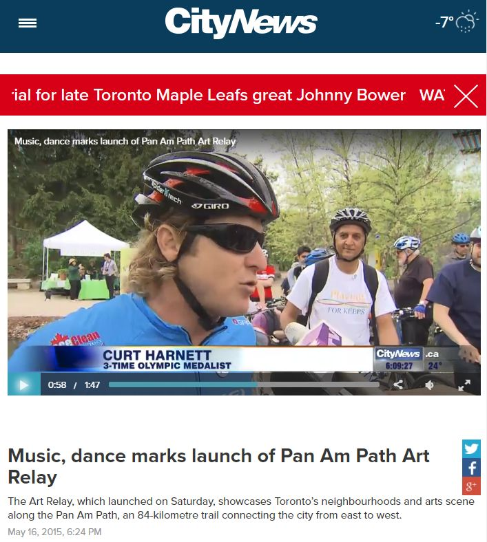 Music, dance marks launch of Pan Am Path Art Relay