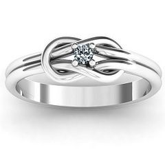 Love Knot Ring! ❤ This ring, maybe with a little bigger diamond, but still ❤ it. It would be so pretty with diamond bands on both side!!