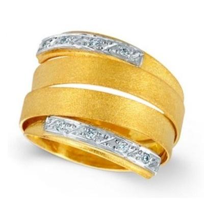 Ring Yellow Gold 18k Diamonds