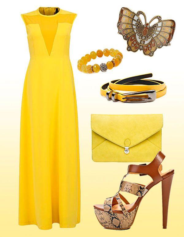 желтые платья подружек невесты #yellow #bridesmaids