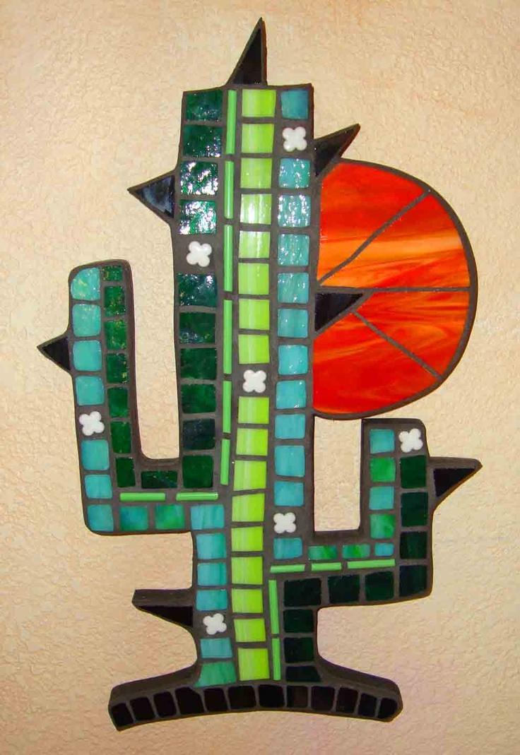 Mosaic cactus in the sun