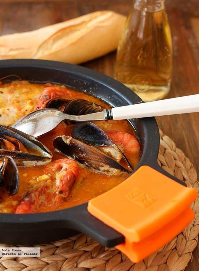 Receta de cazuela de pescado y marisco. Recetas de pescados y mariscos. Con fotos de presentación y del paso a paso y presentación. Con consejos de degustaci...