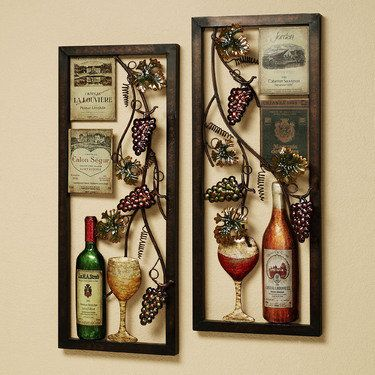 Valley Vineyard Metal Wall Art Set Kitchen DecorationsDining Room