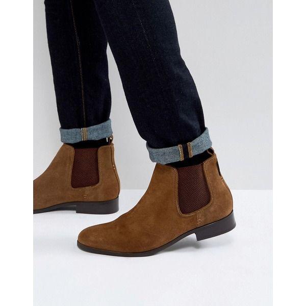 683b0a12dab8f6 Ben Sherman - Chelsea-Stiefel aus hellbraunem Wildleder - Bronze  fashion   shoes