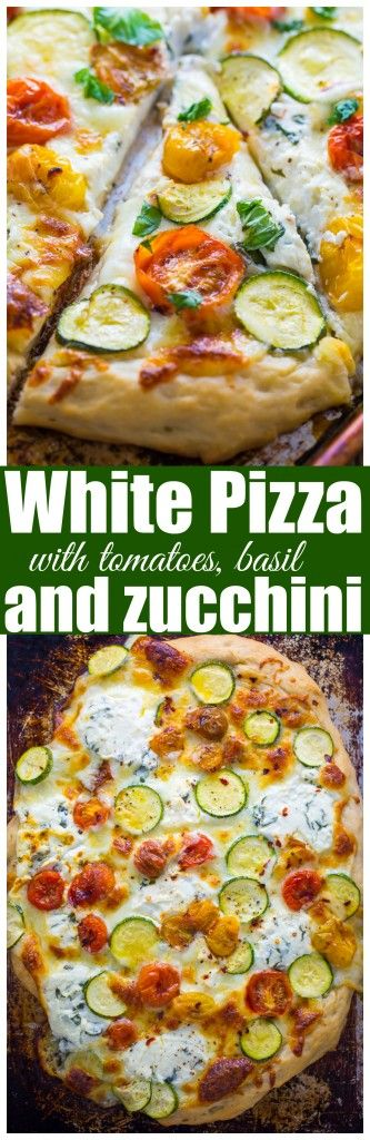 White Focaccia Pizza With Zucchini Recipe — Dishmaps