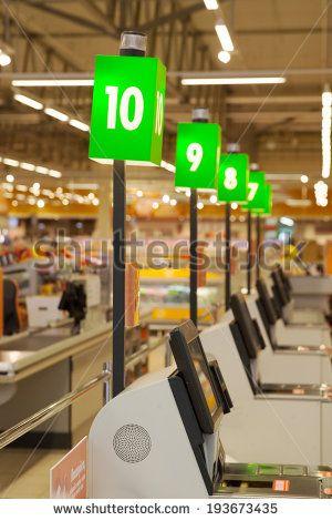 self-checkout hypermarket