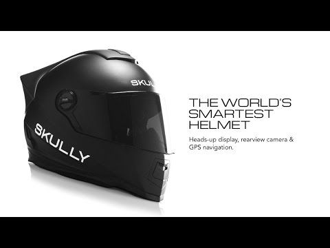 motorcycle helmet with hud display rear view camera and gps