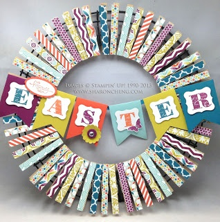 SHARING CREATIVITY and COMPANY: Easter (and More) Clothespin Wreath