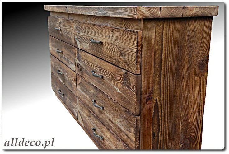 Komoda ze starego drewna/ Commode en vieux bois