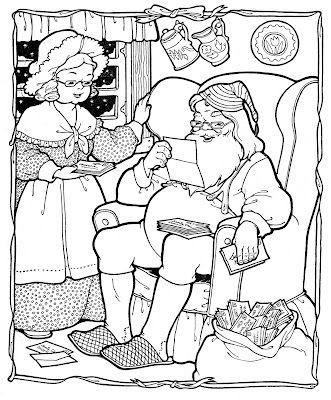 Kids Printable – Santa Coloring Page – Christmas