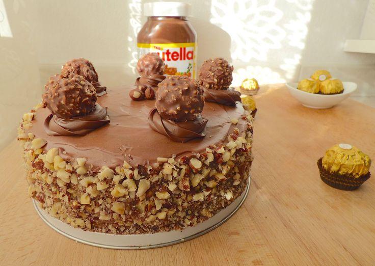 Apprendre pas à pas à réaliser un merveilleux Ferrero Rocher Cake ! Merveilleux Gâteau Ferrero Rocher.
