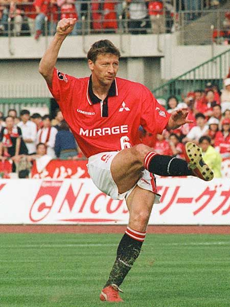 Guido Buchwald of Urawa Red Diamonds of Japan in 1994.