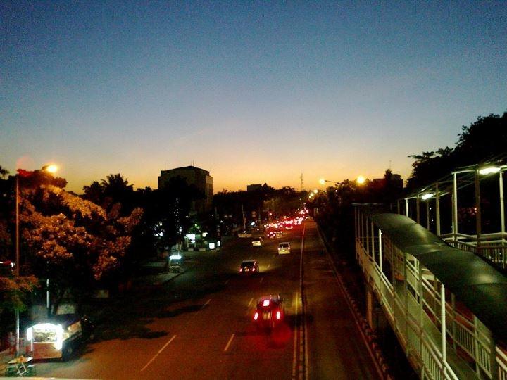 Faint light just after sunset...