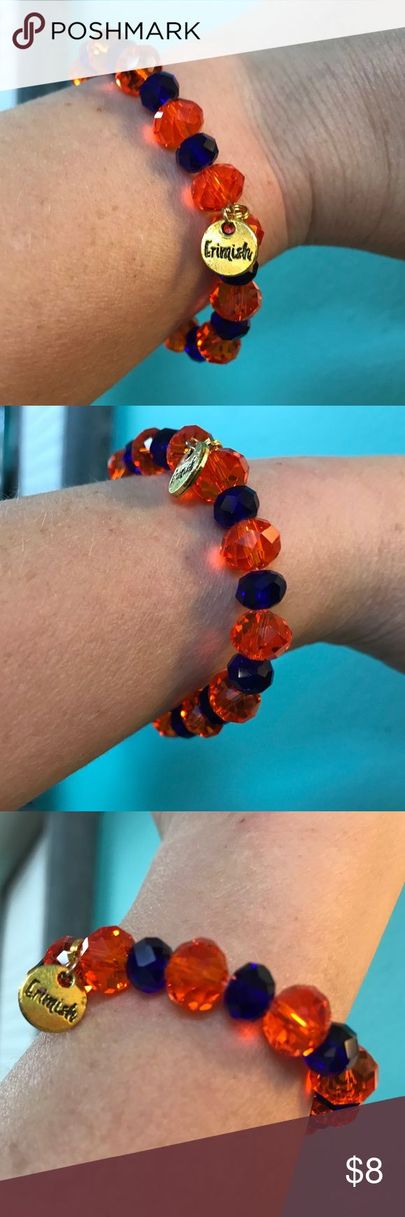 Erimish Game Day Bracelet Florida Gators Orange & Blue bracelet, part of the Erimish Game Day Collection for the Florida Gators. Show your team spirit and sparkle at the same time! This can be worn alone or as part of a stack. Bracelets come in a jar so there is no tag but they are all brand new! Erimish Jewelry Bracelets