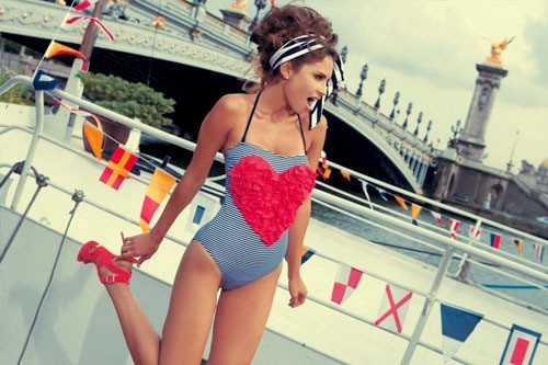 Love this nautical swimmer... now must book flights to Corsica