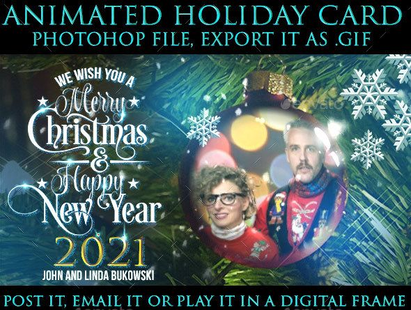 Animated Holiday eCard GIF Generator for Photoshop - Miscellaneous #Photo Templates