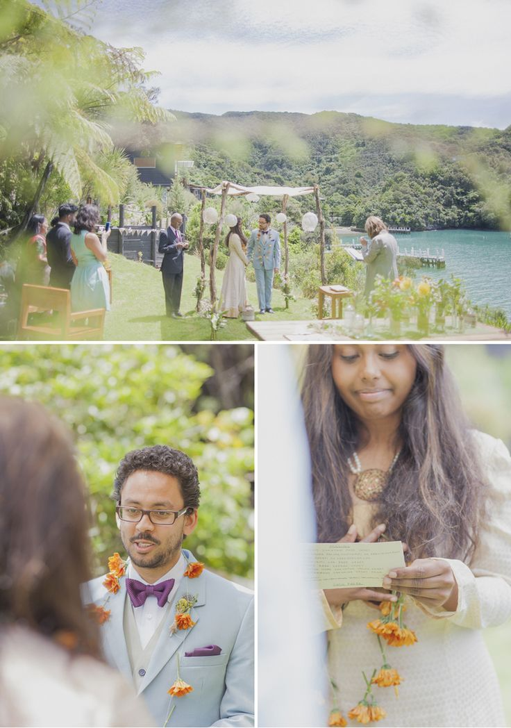 What a location for celebration! Wedding in the Marlborough Sounds.