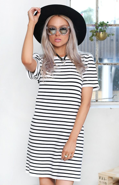 Jailhouse Rock Dress Black And White Stripe | Beginning  Boutique #BBFEST #beginningboutique