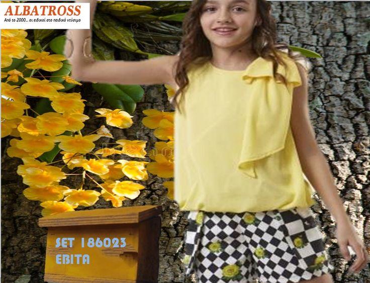 Ολοκληρωμένο ντύσιμο από την Ανοιξιάτικη συλλογή μας για κορίτσι μέχρι Νο 16.  Σετ κίτρινο χρώμα με σορτς καρώ ασπρόμαυρο ή με φούστα που κυριαρχούν τα λουλούδια , στο οποίο μπορείτε να προσθέσετε σε πείσμα του άστατου καιρού το λευκό μας μπουφάν . Περισσότερα στο ➡️www.albatross-junior.gr/koritsi/