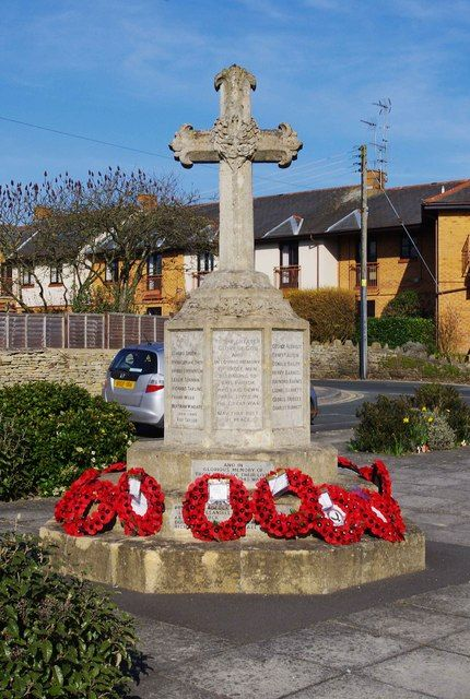 Bishop's Cleeve War Memorial, Church Road, Bishop's Cleeve, Glos by P L Chadwick