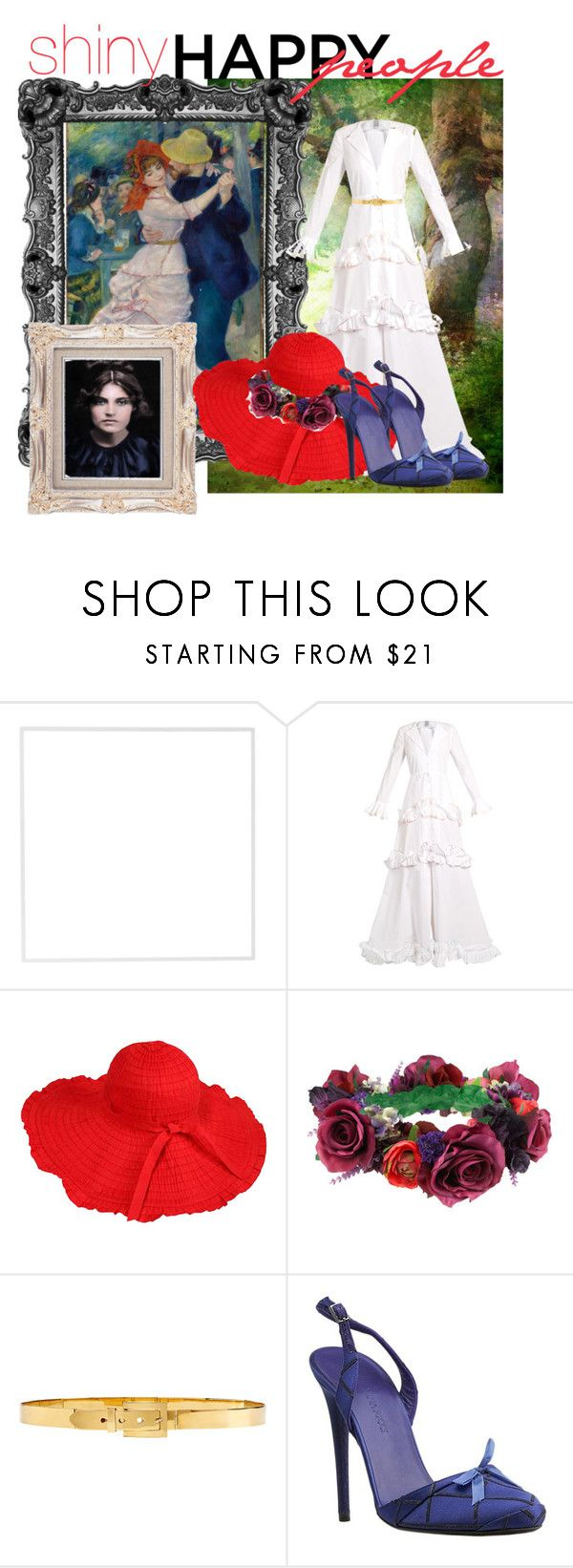 """""""Shiny happy people: Suzanne Valadon"""" by lullulu ❤ liked on Polyvore featuring Menu, Rosie Assoulin, Rock 'N Rose, Alexander McQueen and Nina Ricci"""