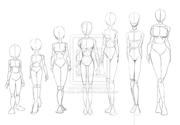 Line Drawing Woman Body : Different types of skinny wome by lucio ashihara