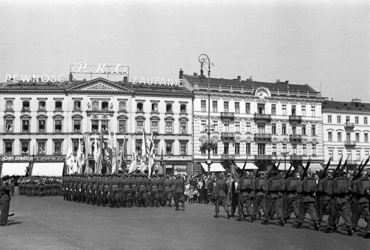Warsaw August 1939, military parade at the Piłsudski square