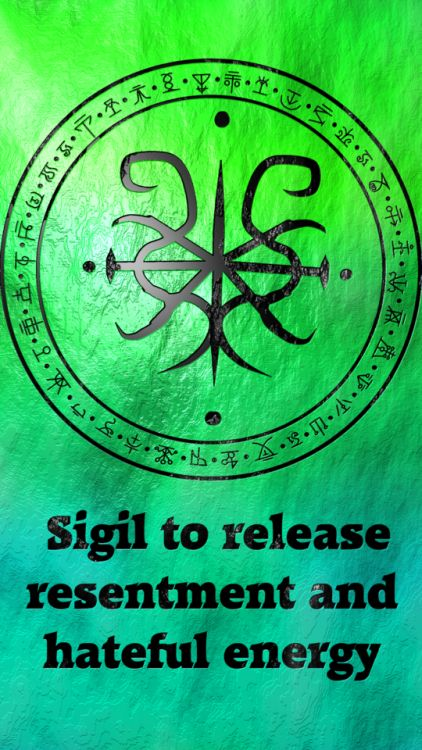 Sigil to release resentment and hateful energy  Requested by anonymous