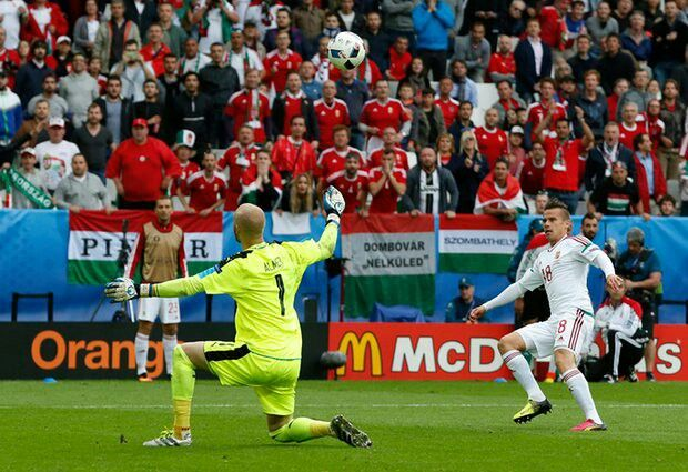 Austria 0 Hungary 2 in June 2016 in Bordeaux. Zoltan Stieber seals it in Group F #EuroChamp