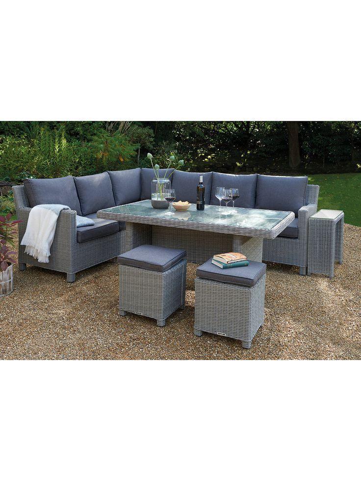 Kettler Palma 8 Sitzecke Garten Glastisch Stuhle Lounge Set Mit Beistelltisch White Wash Glastische Sitzecken Garten Sitzecke