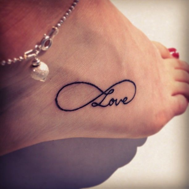 Infinity Love Tattoo On Ankle