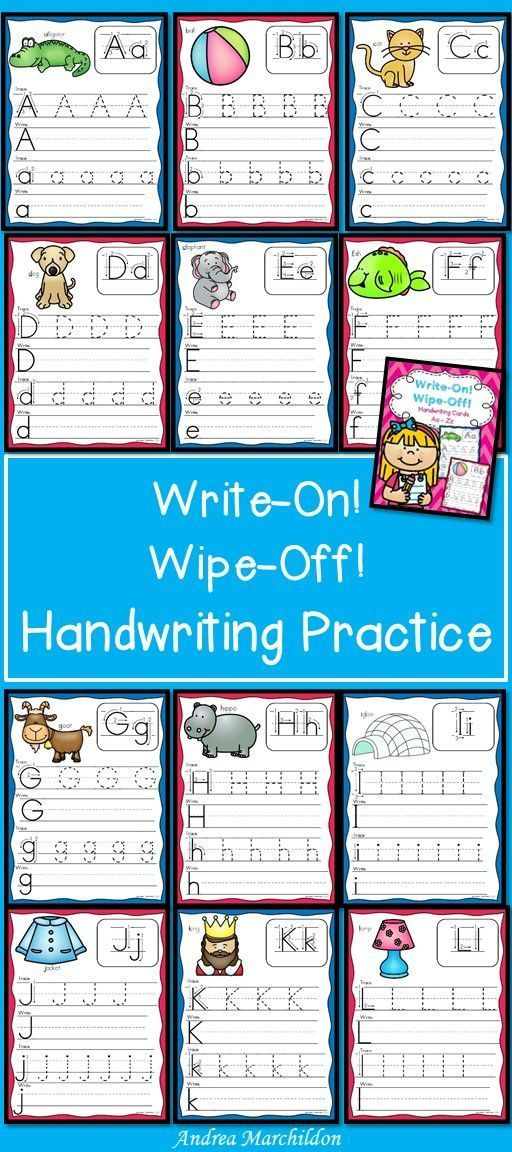 Alphabet Mats - Write & Wipe. These mats are great for handwriting uppercase and lowercase letters Aa - Zz. Great practice for preschool, kindergarten and first grade students.