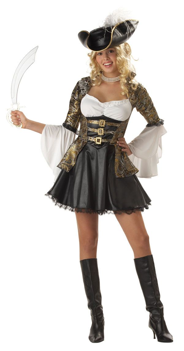 new teen deluxe pirate princess girls halloween costume - Teenage Girl Pirate Halloween Costumes