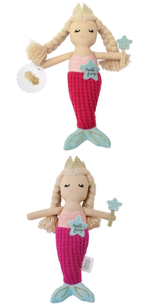 Tooth Fairy Pillows 162038 Mud Pie E8 Baby Boutique Girl Mermaid
