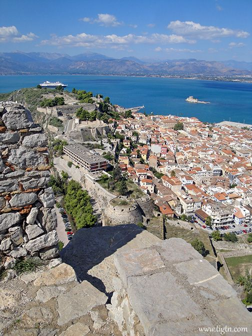 Not for the faint of heart... 999 steps to #Palamidi Castle, #Nafplio, #Peloponnese - #Greece
