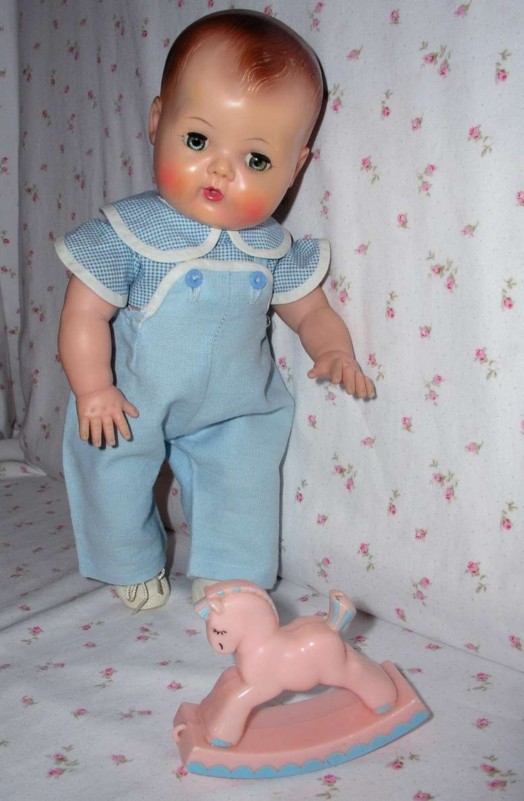 Vintage molded hair Tiny Tears doll, 1956. Grandma ReeRee made all the outfits for my Tiny Tears.