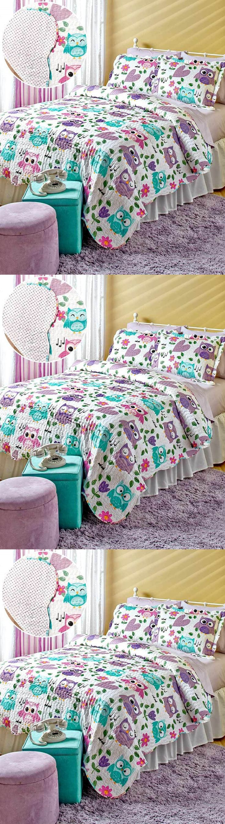 Kids At Home: Owl Quilt Sets Twin Full Queen Teens Bedroom Kids Girls Owls  Decor