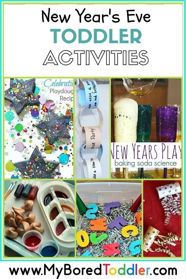 Over 15 fun New year's eve activities for toddlers. If you are looking for toddler activities this New years eve you can't go past this great collection from My Bored Toddler http://www.myboredtoddler.com