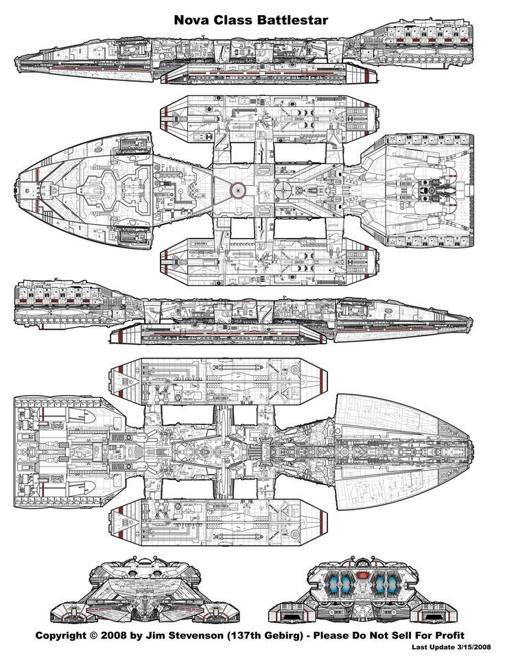 Battlestar Galactica Ship Blueprints 1978
